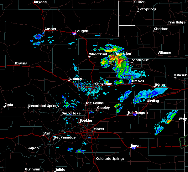 Radar Image for Severe Thunderstorms near Lingle, WY at 6/2/2020 7:31 PM MDT