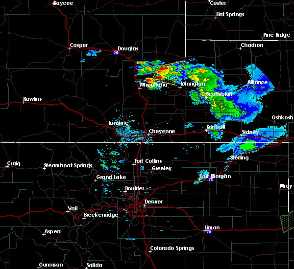 Radar Image for Severe Thunderstorms near Lingle, WY at 6/2/2020 8:22 PM MDT