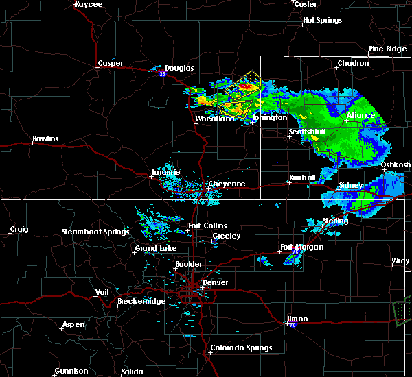 Radar Image for Severe Thunderstorms near Fort Laramie, WY at 6/2/2020 8:53 PM MDT
