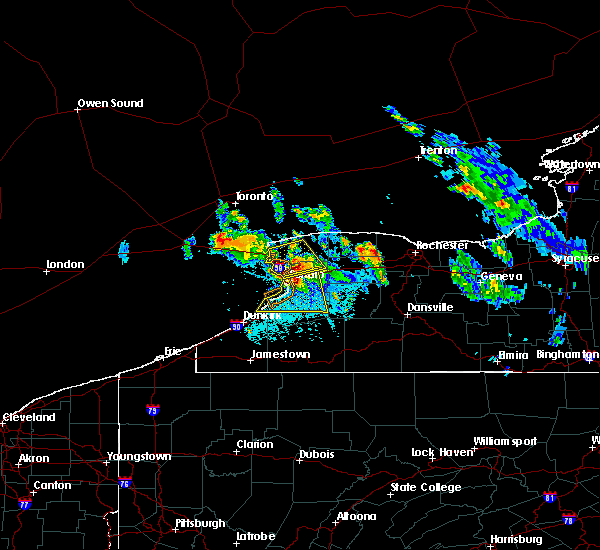 Radar Image for Severe Thunderstorms near Le Roy, NY at 6/2/2020 11:09 PM EDT