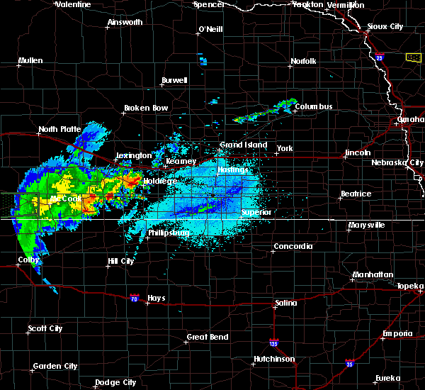 Radar Image for Severe Thunderstorms near Loomis, NE at 6/2/2020 10:24 PM CDT