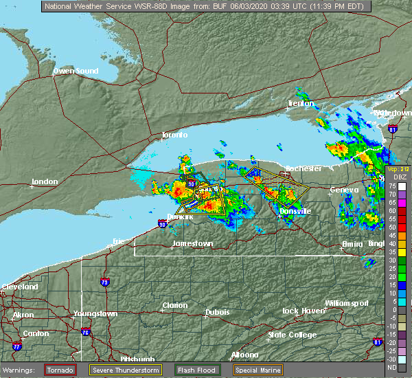 Radar Image for Severe Thunderstorms near Strykersville, NY at 6/2/2020 11:43 PM EDT