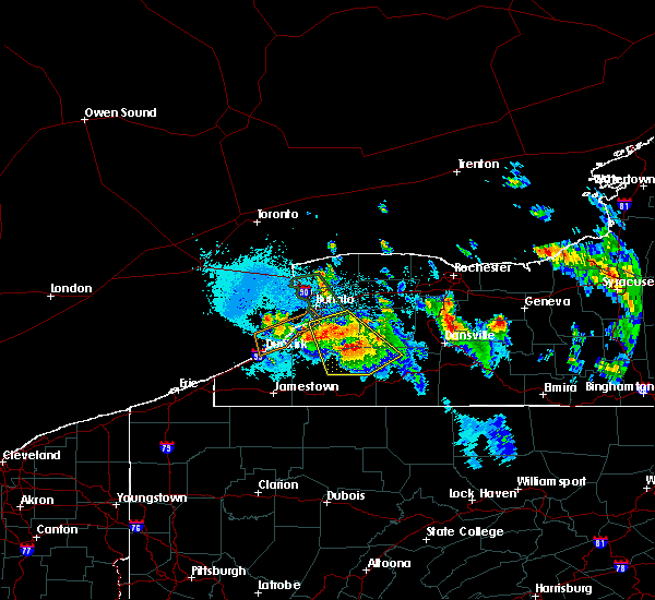 Radar Image for Severe Thunderstorms near Strykersville, NY at 6/3/2020 12:09 AM EDT
