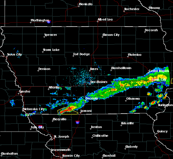 Radar Image for Severe Thunderstorms near Mount Ayr, IA at 6/3/2020 6:52 AM CDT