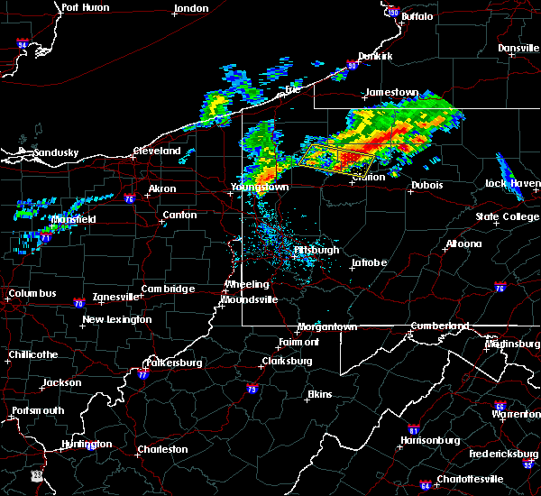Radar Image for Severe Thunderstorms near Vowinckel, PA at 6/3/2020 8:46 AM EDT