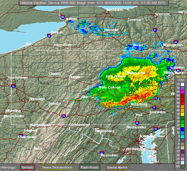 Radar Image for Severe Thunderstorms near Dauphin, PA at 6/3/2020 11:14 AM EDT