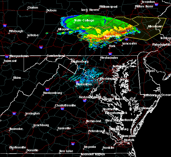 Radar Image for Severe Thunderstorms near Fivepointville, PA at 6/3/2020 11:22 AM EDT