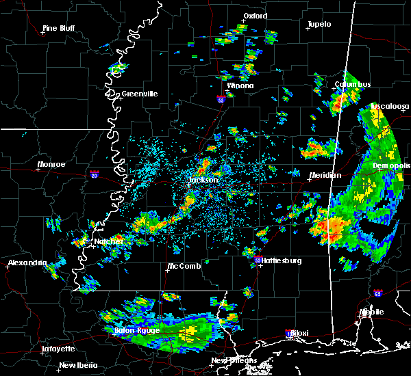 Radar Image for Severe Thunderstorms near Crystal Springs, MS at 6/3/2020 2:24 PM CDT