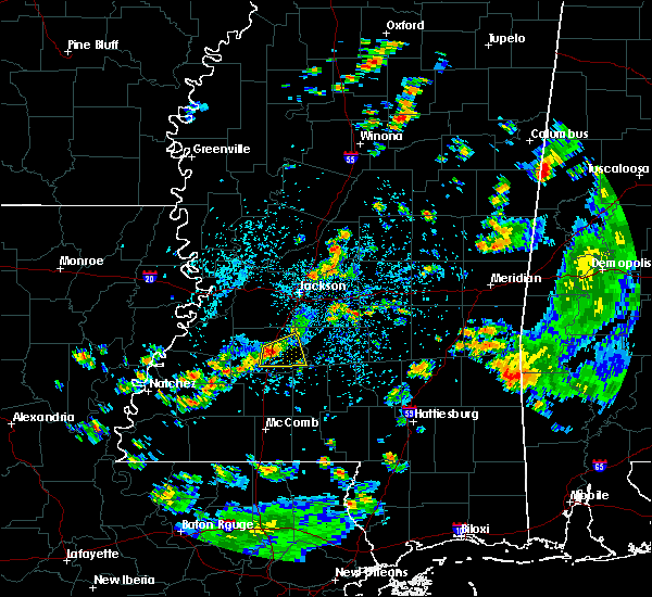 Radar Image for Severe Thunderstorms near Crystal Springs, MS at 6/3/2020 2:42 PM CDT