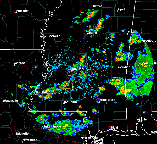 Radar Image for Severe Thunderstorms near Crystal Springs, MS at 6/3/2020 2:53 PM CDT