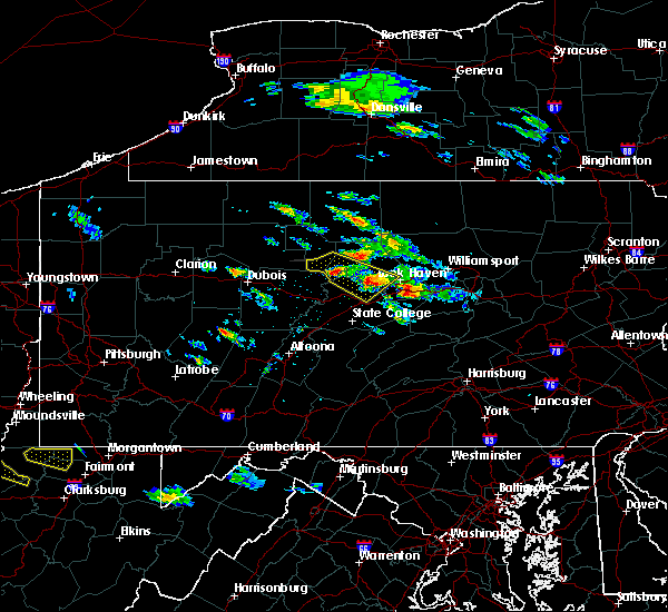 Radar Image for Severe Thunderstorms near Woodward, PA at 6/3/2020 4:14 PM EDT