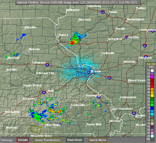 Radar Image for Severe Thunderstorms near New Salem, IL at 6/3/2020 3:25 PM CDT