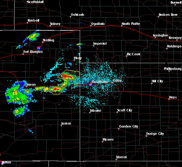 Radar Image for Severe Thunderstorms near Kirk, CO at 6/3/2020 2:40 PM MDT