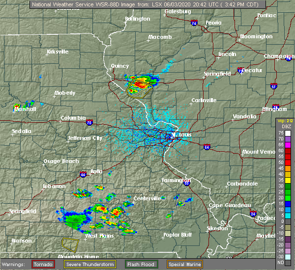 Radar Image for Severe Thunderstorms near New Salem, IL at 6/3/2020 3:44 PM CDT