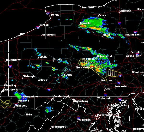 Radar Image for Severe Thunderstorms near Woodward, PA at 6/3/2020 4:52 PM EDT