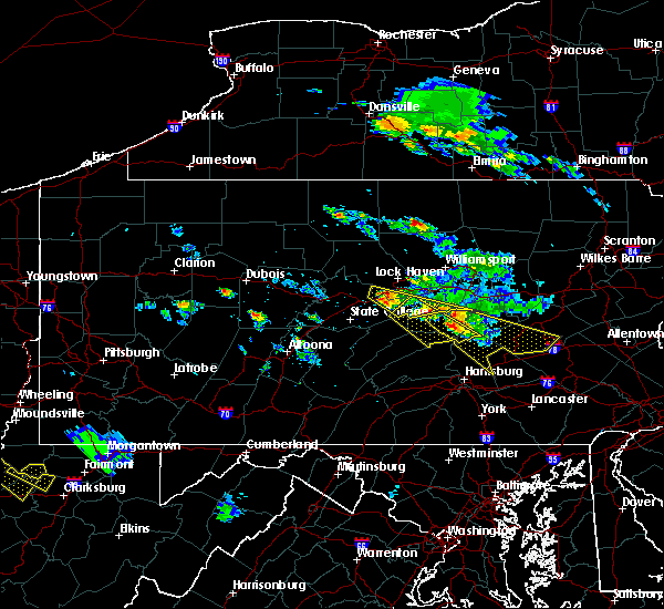 Radar Image for Severe Thunderstorms near Woodward, PA at 6/3/2020 4:55 PM EDT
