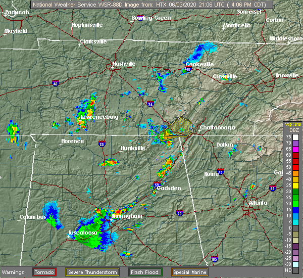 Radar Image for Severe Thunderstorms near New Hope, TN at 6/3/2020 4:10 PM CDT