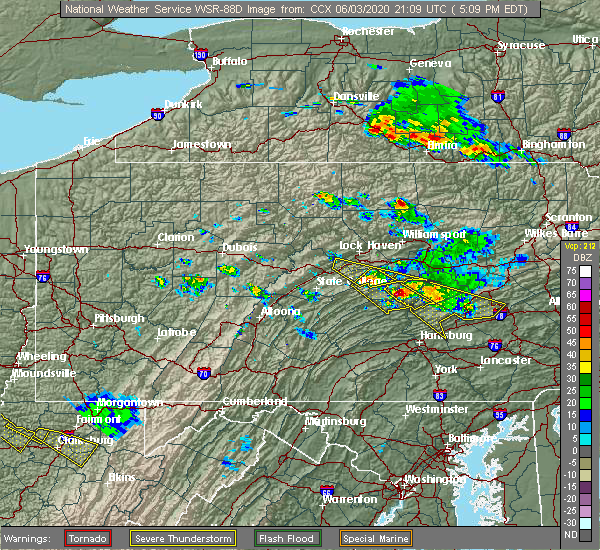 Radar Image for Severe Thunderstorms near Port Trevorton, PA at 6/3/2020 5:12 PM EDT
