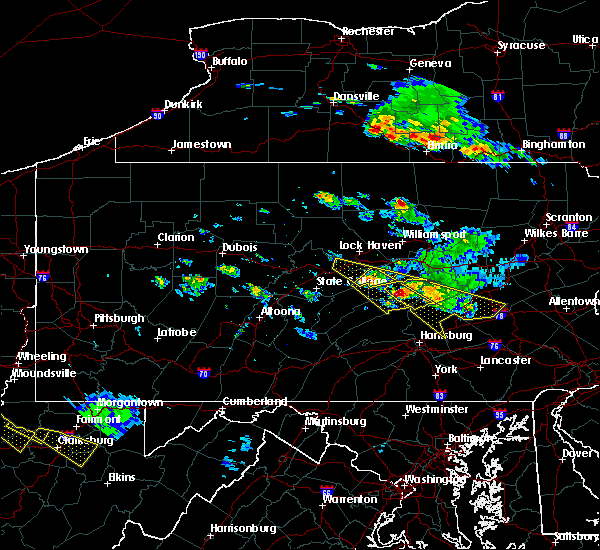 Radar Image for Severe Thunderstorms near Blanchard, PA at 6/3/2020 5:14 PM EDT