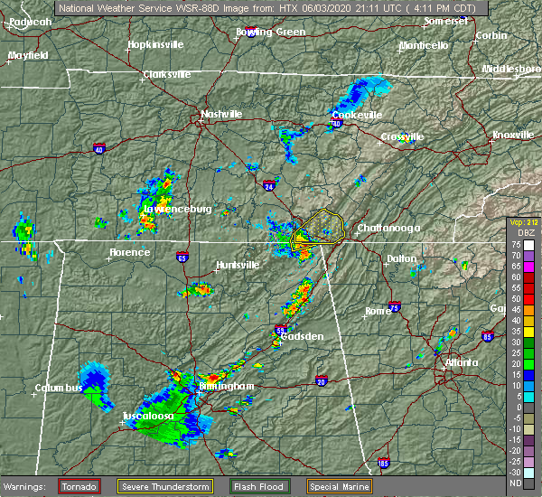 Radar Image for Severe Thunderstorms near New Hope, TN at 6/3/2020 4:14 PM CDT