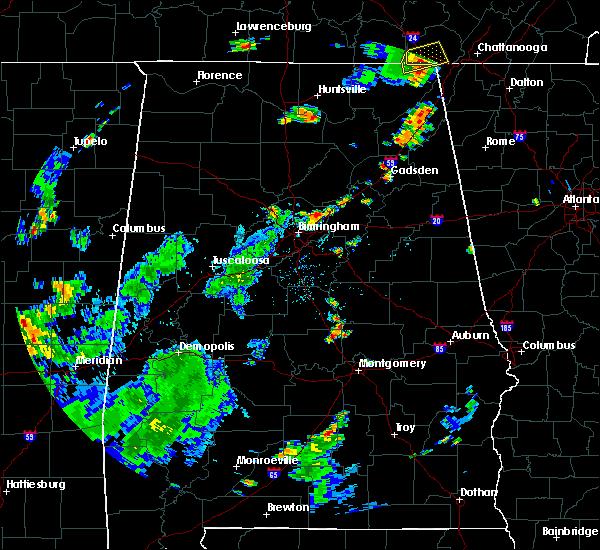 Radar Image for Severe Thunderstorms near Springville, AL at 6/3/2020 4:19 PM CDT