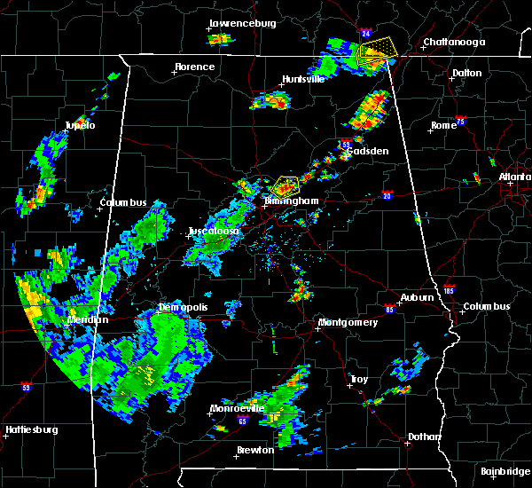 Radar Image for Severe Thunderstorms near Springville, AL at 6/3/2020 4:33 PM CDT