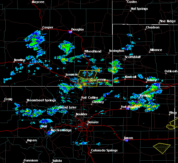 Radar Image for Severe Thunderstorms near Burns, WY at 6/3/2020 3:43 PM MDT