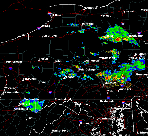 Radar Image for Severe Thunderstorms near Port Trevorton, PA at 6/3/2020 5:51 PM EDT