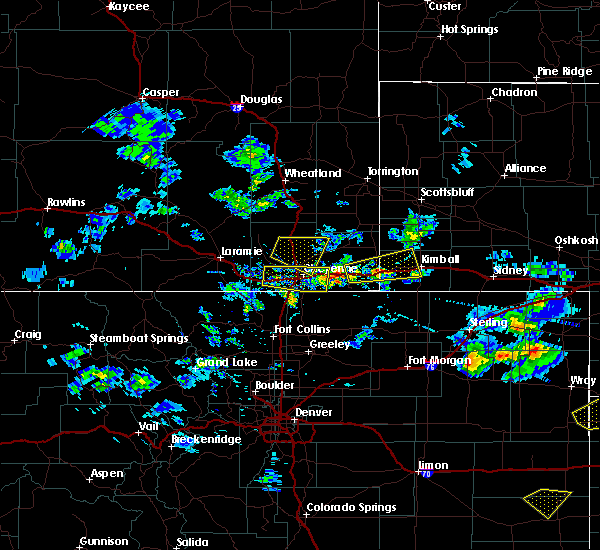 Radar Image for Severe Thunderstorms near Pine Bluffs, WY at 6/3/2020 4:02 PM MDT