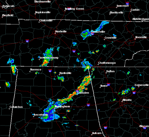 Radar Image for Severe Thunderstorms near Lookout Mountain, AL at 6/3/2020 5:03 PM CDT
