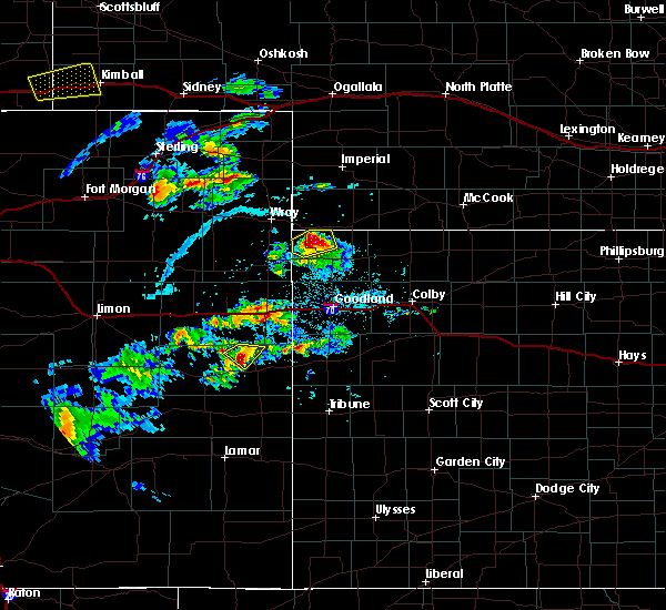 Radar Image for Severe Thunderstorms near Cheyenne Wells, CO at 6/3/2020 4:07 PM MDT