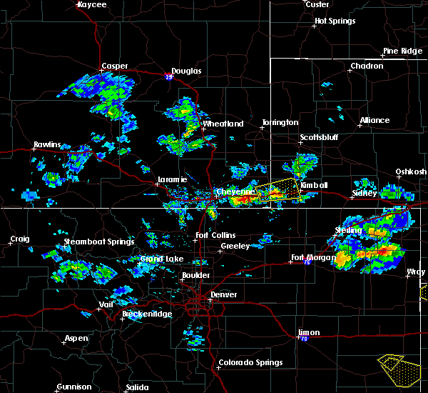 Radar Image for Severe Thunderstorms near Pine Bluffs, WY at 6/3/2020 4:10 PM MDT