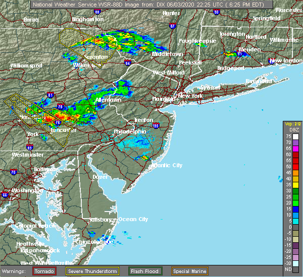 Radar Image for Severe Thunderstorms near Halfway House, PA at 6/3/2020 6:29 PM EDT