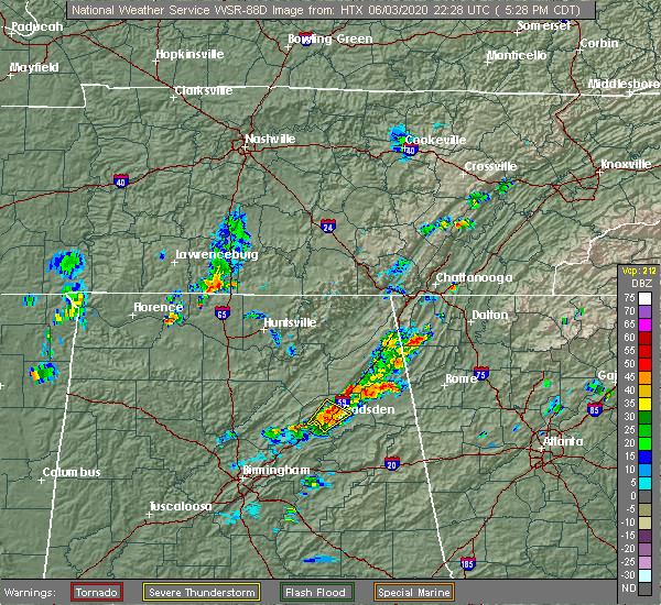 Radar Image for Severe Thunderstorms near Lookout Mountain, AL at 6/3/2020 5:31 PM CDT