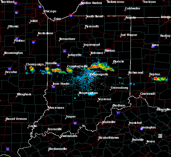 Radar Image for Severe Thunderstorms near Greenfield, IN at 6/3/2020 6:34 PM EDT