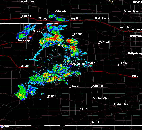 Radar Image for Severe Thunderstorms near Cheyenne Wells, CO at 6/3/2020 4:39 PM MDT