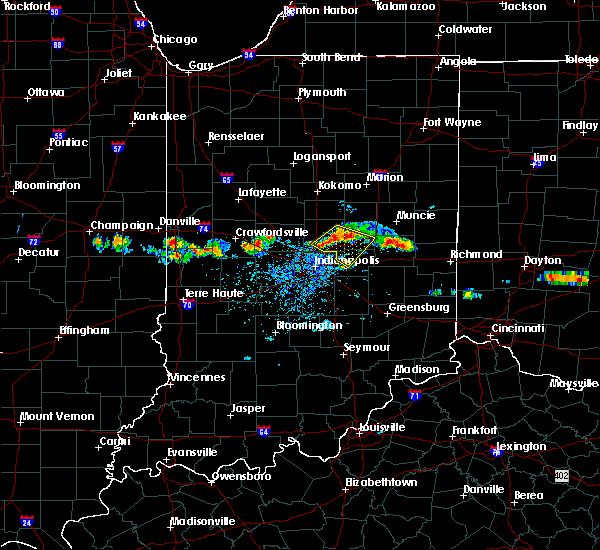 Radar Image for Severe Thunderstorms near Indianapolis, IN at 6/3/2020 6:40 PM EDT