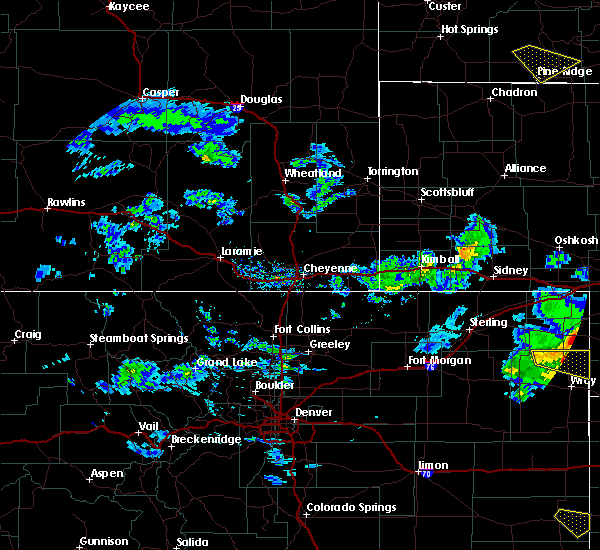 Radar Image for Severe Thunderstorms near Hillsdale, WY at 6/3/2020 4:45 PM MDT