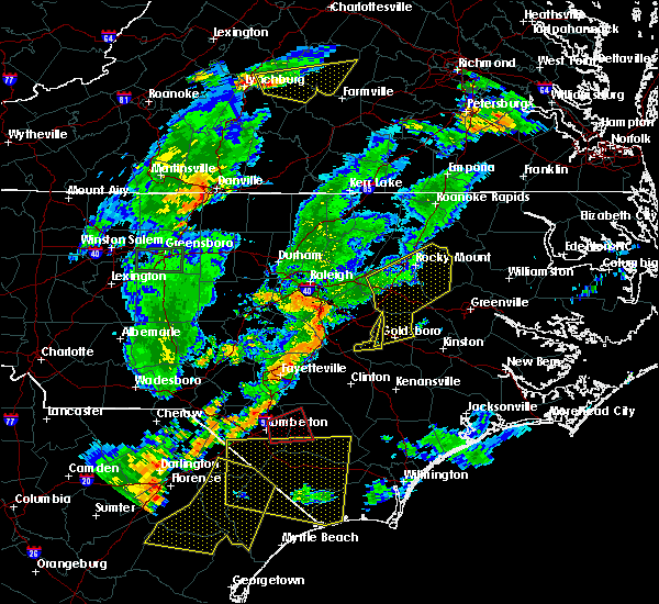 Radar Image for Severe Thunderstorms near Goldsboro, NC at 6/27/2015 8:53 PM EDT