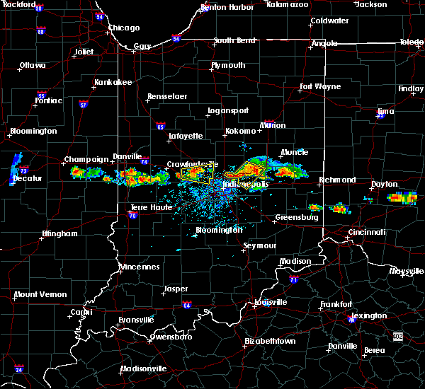 Radar Image for Severe Thunderstorms near Indianapolis, IN at 6/3/2020 6:52 PM EDT