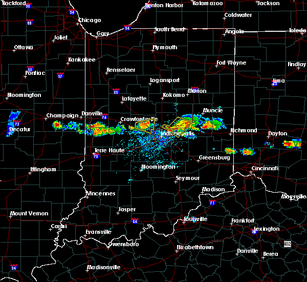 Radar Image for Severe Thunderstorms near Indianapolis, IN at 6/3/2020 7:02 PM EDT