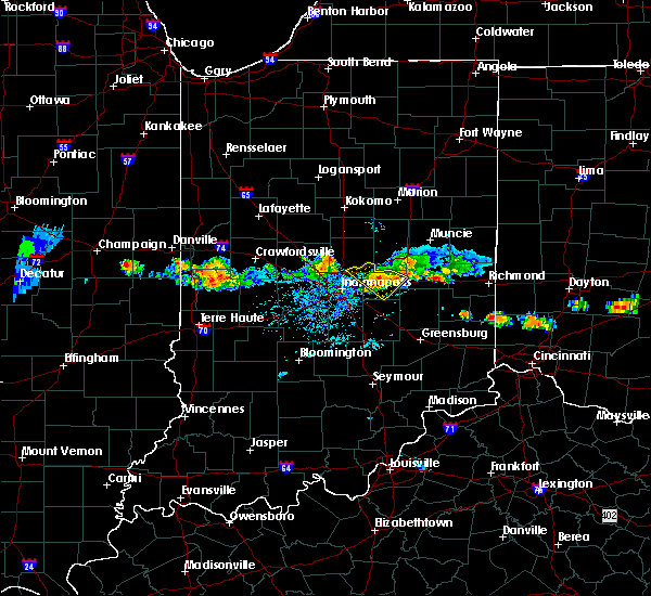 Radar Image for Severe Thunderstorms near Greenfield, IN at 6/3/2020 7:17 PM EDT