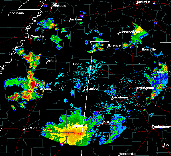 Radar Image for Severe Thunderstorms near Carrollton, MS at 6/3/2020 6:25 PM CDT