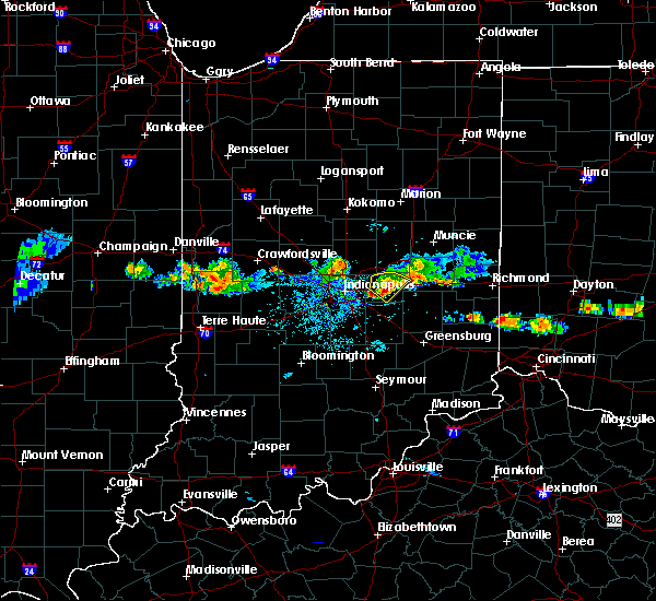 Radar Image for Severe Thunderstorms near Greenfield, IN at 6/3/2020 7:26 PM EDT