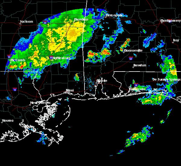 Radar Image for Severe Thunderstorms near Chatom, AL at 6/3/2020 6:30 PM CDT