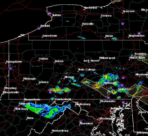 Radar Image for Severe Thunderstorms near Dillsburg, PA at 6/3/2020 7:30 PM EDT