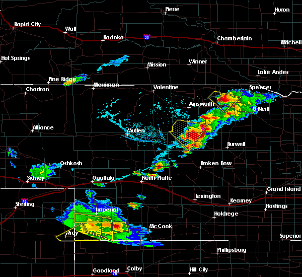 Radar Image for Severe Thunderstorms near Brewster, NE at 6/3/2020 6:32 PM CDT