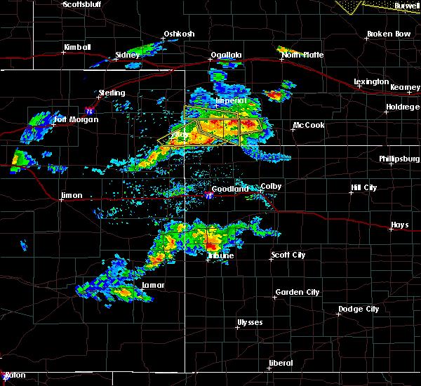 Radar Image for Severe Thunderstorms near Benkelman, NE at 6/3/2020 6:37 PM CDT