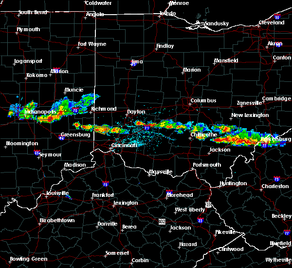 Radar Image for Severe Thunderstorms near Darrtown, OH at 6/3/2020 7:40 PM EDT