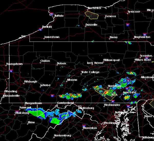 Radar Image for Severe Thunderstorms near Dillsburg, PA at 6/3/2020 7:57 PM EDT